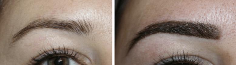 permanente make-up wenkbrauwen schaduw techniek permanent beauty
