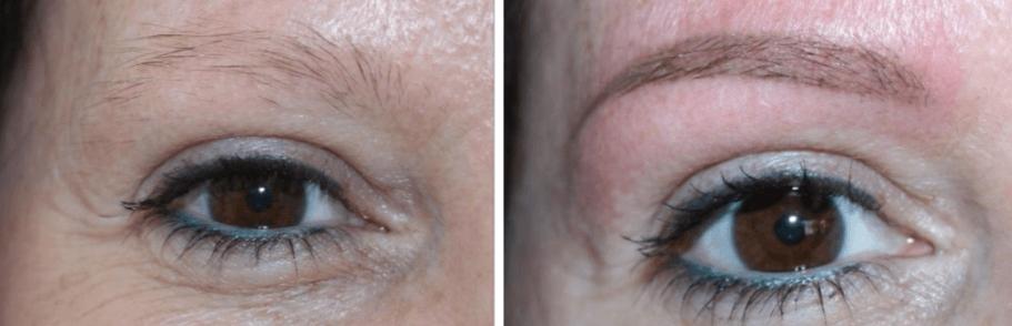 mooie lichte natuurlijke permanente make-up wenkbrauwen