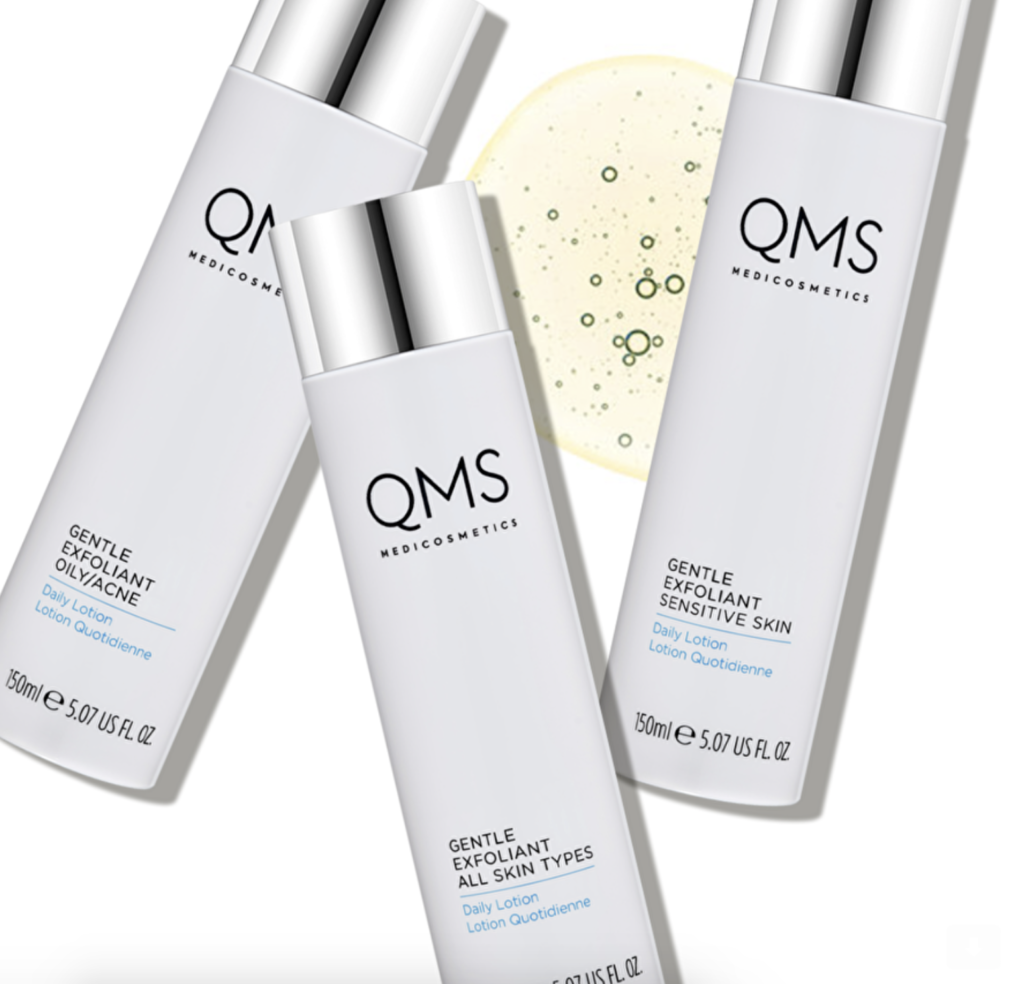QMS Medicosmetics Gentle Exfoliant Daily Lotions voor normale huid, gevoelige huid en vette/ acné huid.